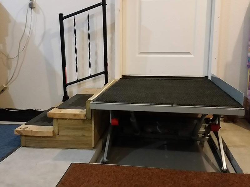 Wheelchair Platform Lift Up Position