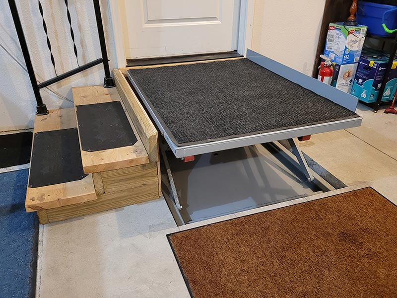 Wheelchair Platform Lift Top Right Wide