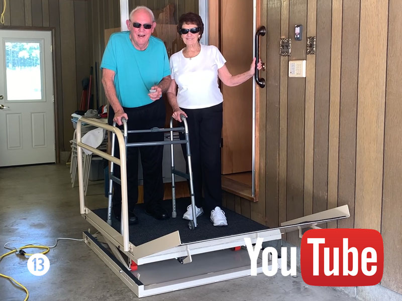 Garage Standing Wheelchair Lift 13